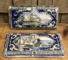 Beautiful Authentic Antique European Greek Decorative Ceramic Tiles Look Decor