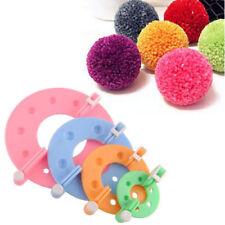 4 Size Pompom Maker Fluff Ball Weaver Needle Knitting Crafts bobble DIY Tool Kit