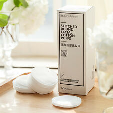 60Pcs Cotton Round Skin Care Makeup Cleaning Pads Puff Face Facial Cosmetic