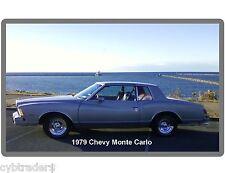1979 Chevrolet Monte Carlo  Silver Refrigerator / Tool Box Magnet Man Cave