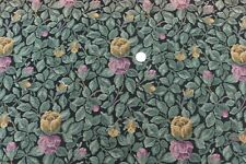 """Antique Rose & Leaf Cotton/Wool French Tapestry Sample Fabric~L-32"""" X W-25"""""""
