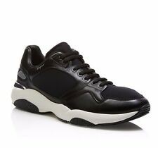 W-1829210 New Salvatore Ferragamo Lisbona 7 Black Sneakers Size 9.5 D
