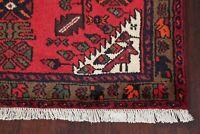 Tribal Animal Design Geometric Hamadan Oriental Area Rug Wool Hand-Knotted 3'x5'