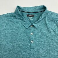 Alfani Stretch Polo Shirt Men's Size 2XL XXL Short Sleeve Green Gray Polyester