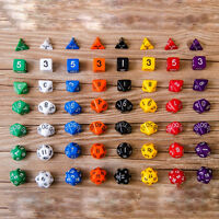 D10 Multi-Sided Gem Würfel sterben für RPG Dungeons&Dragons DND D&D Spiele WJ