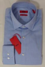 d37a1dea9b6 Hugo Boss Red Label C-mabel Sharp Fit Dress Shirt Light Blue Herringbone  Regular 17