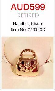 Pandora Retired Rare 14k Yellow Gold Diamond Handbag, 750340D.