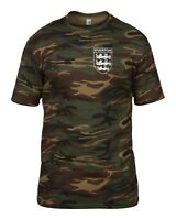 EVERTON 3 LIONS CLUB AND COUNTRY SMALL CREST CAMO T-SHIRT MENS