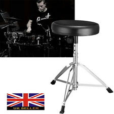 Heavy Duty Drum Stool Thrones Swivel Round Padded Seat Height Adjustable Chair