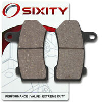 Sixity Front Rear Organic Brake Pads 2012-2014 Harley Davidson FLSTC Heritage Softail Classic Set Full Kit Complete