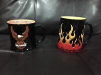 Harley Davidson Coffee Mug 2 Official Licensed Product Bald Eagle Flames 3D