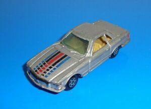 Yatming 1 Loose Car No. 1011 Mercedes-Benz 350 SL Silver w/ Metal Hong Kong Base