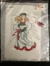 Vtg. Handpainted Christmas Angel Needlepoint Canvas & Kit W/beads-J. Thomasson