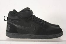 Nike Black Suede Lace Up Youth Sneaker Size 2.5 Y