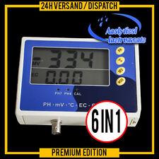 6-IN-1 MULTI METER TESTER EC CF TDS PH °C °F REDOX APARATO MEDICION MEDIDA   P28