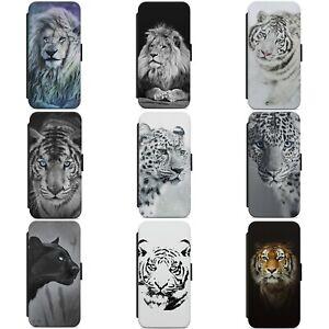 LION TIGER LEOPARD PANTHER ANIMAL WALLET FLIP PHONE CASE COVER FOR IPHONE MODELS