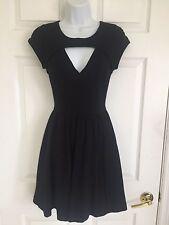 GUESS LOS ANGELES Black DRESS XS V- NECKLINE CUT OUT