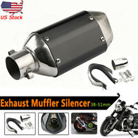 Universal Motorcycle Short Exhaust Muffler Silencer Slip On W/DB Killer 38-51mm