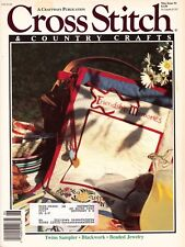 Cross Stitch & Country Crafts May 1991 Twins Sampler Blackwork Beaded Jewelry