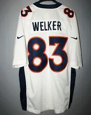 DENVER BRONCOS #83 WES WELKER FOOTBALL WHITE SHIRT JERSEY MEN L NFL USA