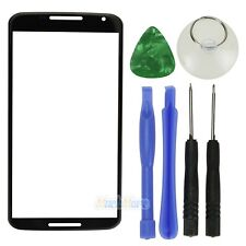 For Motorola Google Nexus 6 Front Outer Screen Glass Lens Replacement  Black USA