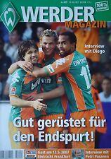 Programm 2006/07 SV Werder Bremen - Eintracht Fankfurt