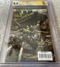 World War Hulk #3 of 5, October 2007, CGC 8.0, Cover signed by writer Greg Pak