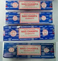 Satya Sai Baba Nag Champa Original Box Incense Sticks: Pick 15 40 100 250 gram