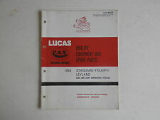 LUCAS Parts List 1965 TRIUMPH cars and LEYLAND light commercials