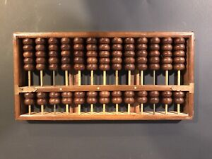 Antique Abacus 91 Beads Hainan Huanghuali Wood Abacus * ESTATE SALE FIND *