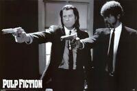 "Pulp Fiction Black and White Guns Maxi Poster 24"" x 36"""
