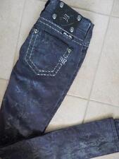 Miss Me Women Skinny Rhinestones Denim Jeans Black(CP4025S10L) - 24x33