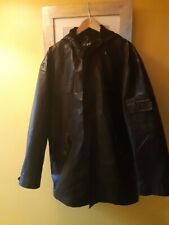 Guess Mens Faux-leather Jacket With Hood In Black, Uk Size large