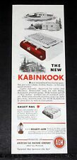 1947 OLD MAGAZINE PRINT AD, NEW KABINKOOK GASOLINE CAMP STOVE, READY-LITE LAMP!