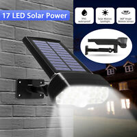 Adjustable Solar Power LED Outdoor Light PIR Motion Sensor Spot Garden Wall Lamp