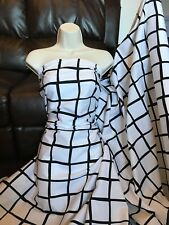 "3 Meter Black/white check design 100% Cotton Fabric dress fabric 45"" wide"