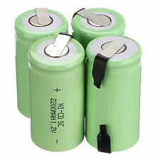 4Pc High Qual Sub C SC 1.2V 2200mAh Ni-Cd NiCd Rechargeable Battery Batteries