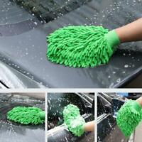 1Pcs Auto Wäsche Wasch Mikrofaser Chenille Mitt Auto Handschuh V Reinigungs W3N0