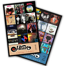"""HEART twin pack (two 4.75"""" x 3.75"""" discography magnets) ann nancy wilson"""