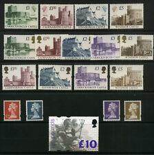 1988-99 HIGH VALUES Set (18)  £1 to £10 U/m  Cat £230+ CASTLES Machins BRITANNIA