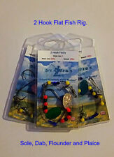 Sea Fishing Rig,  2 Hook Flattie Rigs x 10 mixed Rigs - Hand Crafted by Searigs
