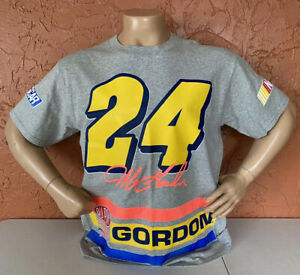 Vintage 1995 Jeff Gordon Nascar Double Sided Big Logo Print Shirt Sz L Dupont