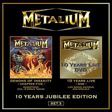 Metalium-TECNO of Insanity CD + 10 Years Live DVD - 200628