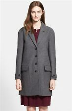 NWT Burberry Brit Camford Wool Cashmere Coat US10 UK12 EU44 Gray NEW $950