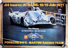 "org. Plakat Poster "" Le Mans 1971"" Sieger 24 Stunden Rennen Martini Porsche 917"