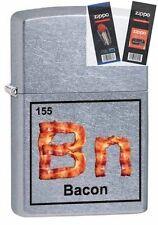 Zippo 29070 bn-bacon element Lighter with *FLINT & WICK GIFT SET*