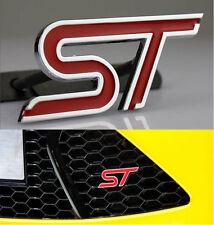 3D Auto Schriftzug Grill Frontgrill Emblem Badge Plakette für Rote ST Chrome NEU