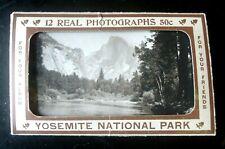 Vintage Yosemite National Park Post Card, Photo Souvenir Book