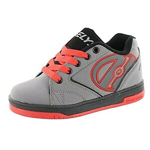 Heelys Men's Propel,Grey/Black/Red Wheel Shoes Sneakers,US Size 8 M