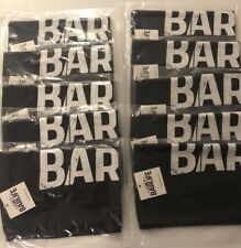 11X17 Rally Towel, Bar Towel, Black with Bar Life logo 10 Count